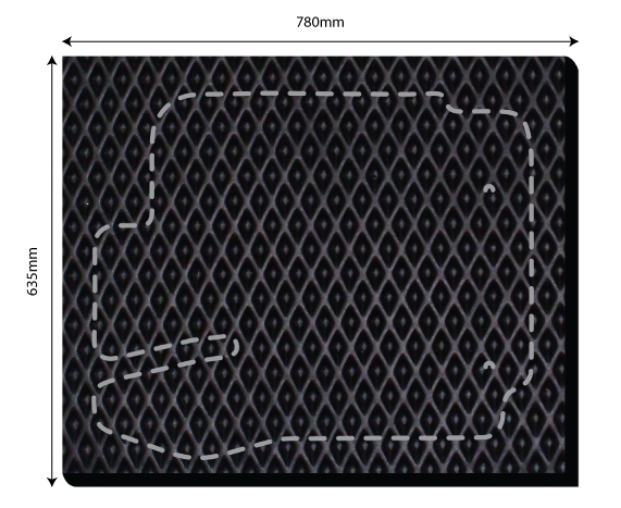 KR101 | Car Mat TRAPO (1 piece set)